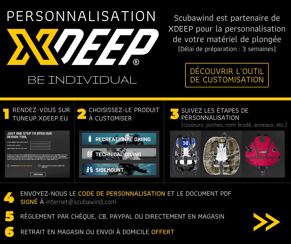 XDeep customisation avec Scubawind