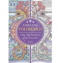 Cahier de coloriages avec des modèles en couleurs