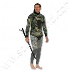 Veste de combinaison de chasse SERIOLE STRETCHY Camo Vert