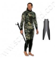 Salopette de combinaison de chasse SERIOLE STRETCHY Camo Vert