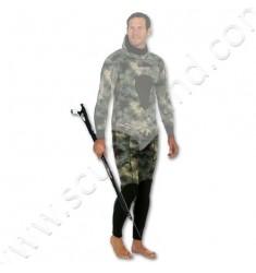 Pantalon de combinaison de chasse SERIOLE STRETCHY Camo Vert