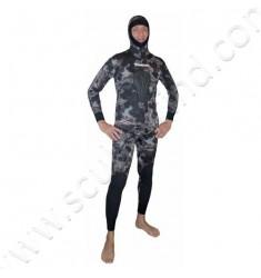 Pantalon de combinaison de chasse SERIOLE STRETCHY Camo Noir