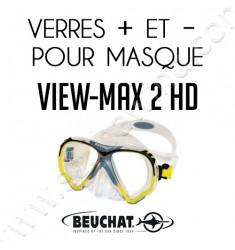 Verres positifs et négatifs pour masque de plongée View-Max 2 HD