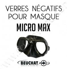 Verres négatifs pour masque de plongée Micromax