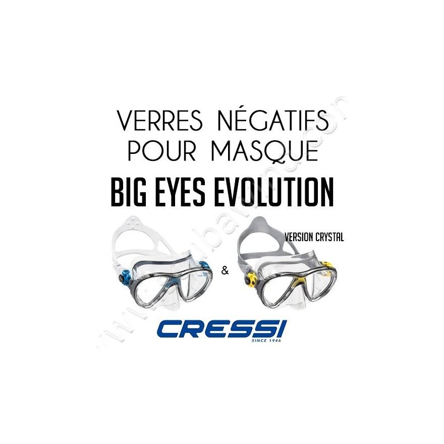 bonne qualité acheter de nouveaux remise chaude Verre négatif pour masque de plongée Big Eyes Evolution