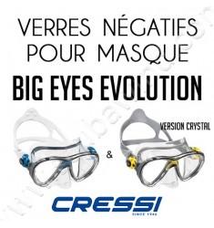 Verre négatif pour masque de plongée Big Eyes Evolution