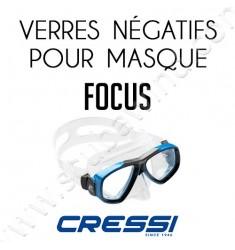 Verre négatif pour masque de plongée Focus