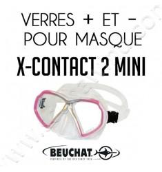 Verres positifs et négatifs pour masque de plongée X-Contact 2 Mini