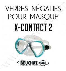 Verres négatifs pour masque de plongée X-Contact 2