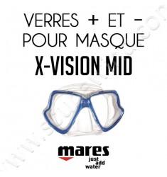 Verres positifs ou négatifs pour masque de plongée X-Vision MID