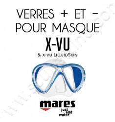 Verres positifs ou négatifs pour masque de plongée X-Vu & X-Vu LiquidSkin
