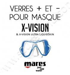 Verres positifs ou négatifs pour masque de plongée X-Vision & Ultra LiquidSkin