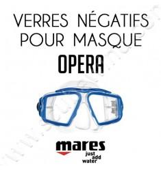 Verre négatif pour masque de plongée Opera