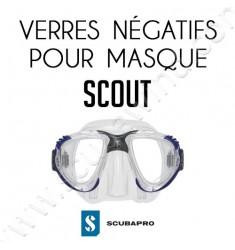 Verre négatif pour masque de plongée Scout