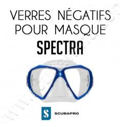 Verre négatif pour masque de plongée Spectra