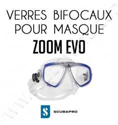 Verre bifocale pour masque de plongée Zoom