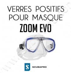 Verre positif pour masque de plongée Zoom