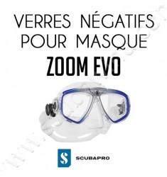 Verre négatif pour masque de plongée Zoom