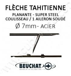 Flèche tahitienne planante Super Steel 7mm