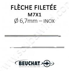 Flèche Filetée Inox 6,7mm M7x1