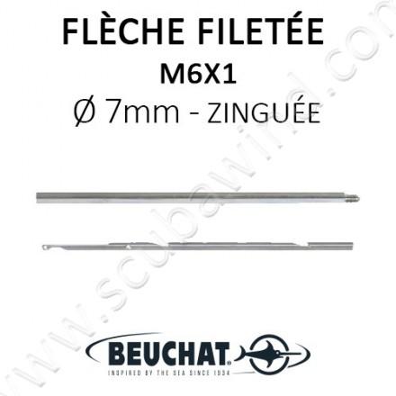 Flèche Filetée Zinguée 7mm - M6x1