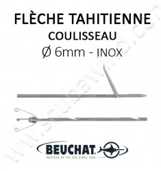 Flèche Tahitienne Inox 6mm + Coulisseau