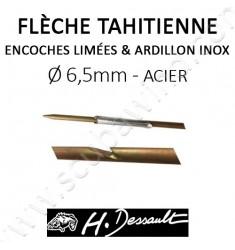 Flèche Impact 6,5mm avec encoches limées
