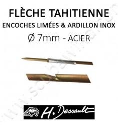 Flèche Impact 7mm avec encoches limées