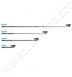 Bras télescopique (vision d'en haut) pour caméra Paralenz