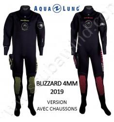 Combinaison étanche Blizzard 4mm avec chaussons (Version 2019)