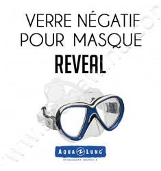 Verre négatif pour masque de plongée Reveal