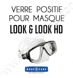 Verre positif pour masque de plongée Look & Look HD