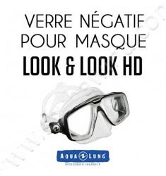 Verre négatif pour masque de plongée Look & Look HD