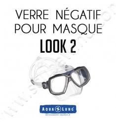 Verre négatif pour masque de plongée Look 2