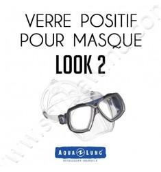 Verre positif pour masque de plongée Look 2