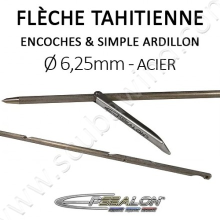 Flèche tahitienne SANDVIK Ø6,25mm avec simple ardillon