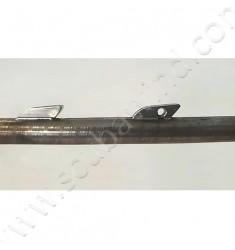 Flèche SANDVIK Ø7mm avec simple ardillon - ergot goupille basse
