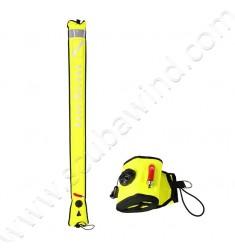 Parachute de palier d'urgence en nylon jaune