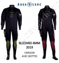 Combinaison étanche Blizzard 4mm avec bottes (Version 2019)