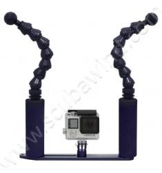 Platine + bras Flexo Double pour Gopro & mini caméra