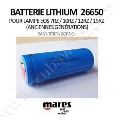 Batterie Lithium 26650 (sans téton)