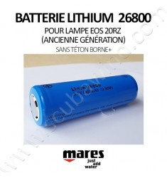 Batterie Lithium 26800 (sans téton)