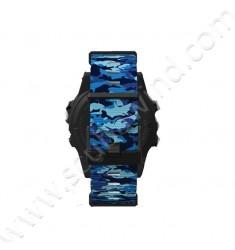 Bracelet Camo bleu pour ordinateur de plongée TERIC