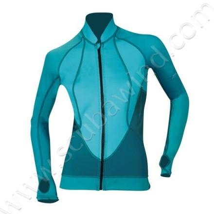Veste Atoll avec zip frontal - Bleu Atoll