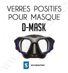 Verre positif  pour masque D-Mask