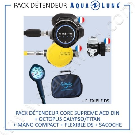 Pack détendeur CORE Din Supreme ACD + Octopus Calypso/Titan