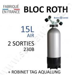 Bloc de 15L Air - Robinet TAG (Aqualung)