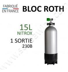 Bloc de 15L Nitrox - 1 sortie