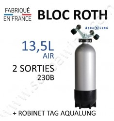 Bloc de 13,5L Air - Robinet TAG (Aqualung)