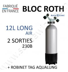 Bloc de 12L Long Air - Robinet TAG (Aqualung)
